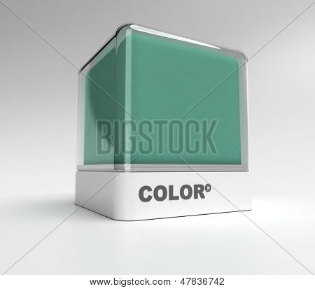 Design block in a green color