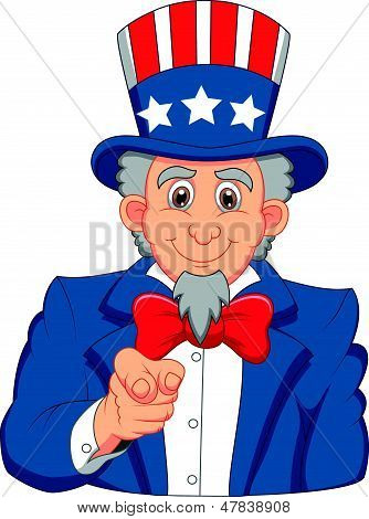 Uncle Sam cartoon wants you