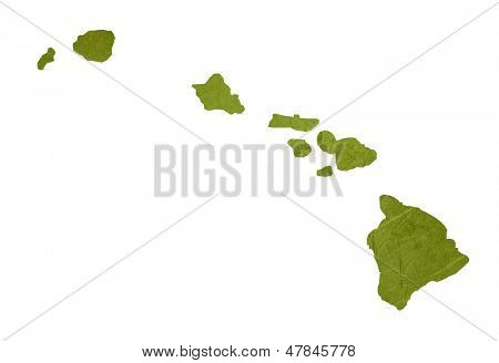 American state of Hawaii isolated on white background with clipping path.