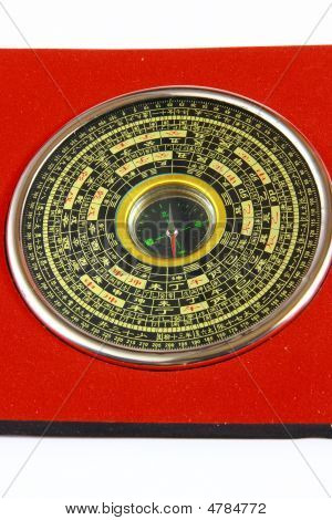 Close Up View The Old Compass