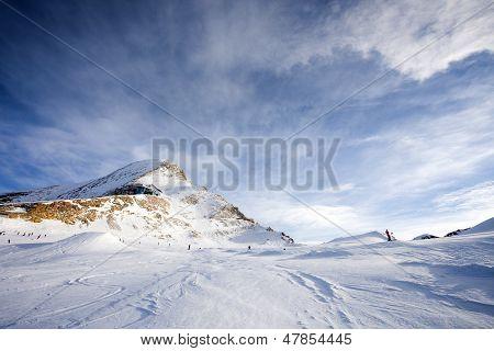 Ski Slopes In Kaprun Resort