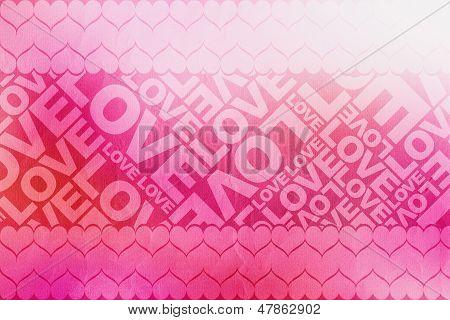 Love+heart Typographic Texture