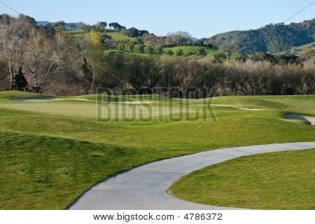 Cart Path On Golf Course