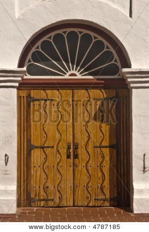 Door To An Old Spanish Mission