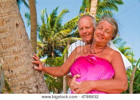 Happy Mature Couple Caressing
