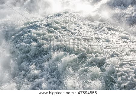 Close Up Of Rhine Falls In Switzerland
