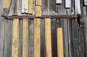 aged wooden farm wall background and texture poster
