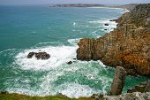 Pointe de Pen-Hir, Crozon peninsula. Brittany, France poster