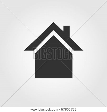 House icon, flat design