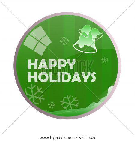 Glossy Happy Holidays Chime Ball