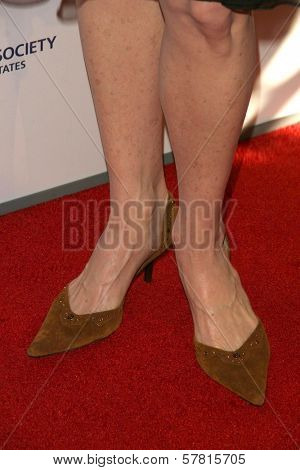 Susanna Thompson's shoes  at the 23rd Annual Genesis Awards. Beverly Hilton Hotel, Beverly Hills, CA. 03-28-09