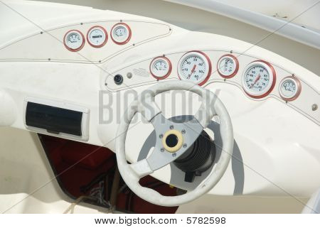 Yacht Wheel And Panel