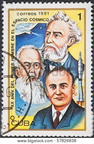 Scientists Korolev, Tsiolkovsky,zhukovsky