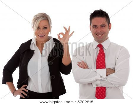 Business Team isolated onto a white background