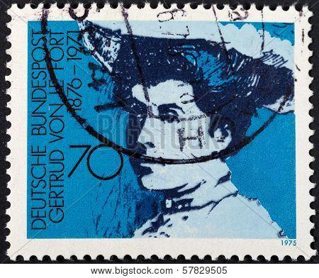 Baroness Gertrud Von Le Fort German Writer