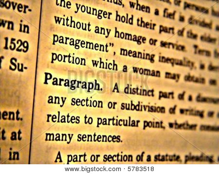 Dictionary Paragraph