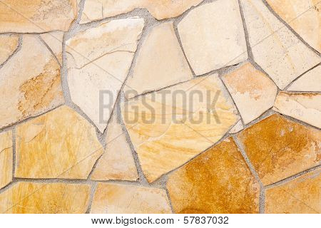 Wall Lined With Porphyry Stones