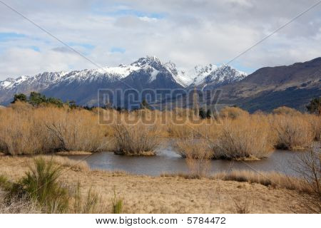 Glenorchy Lagoon And Mountains