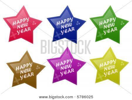 Glossy Happy New Year