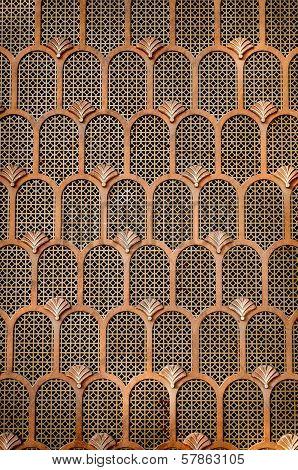 Copper Art Deco Background
