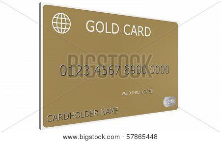 3D Gold Credit Card