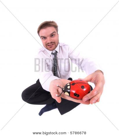 Businessman And Toy