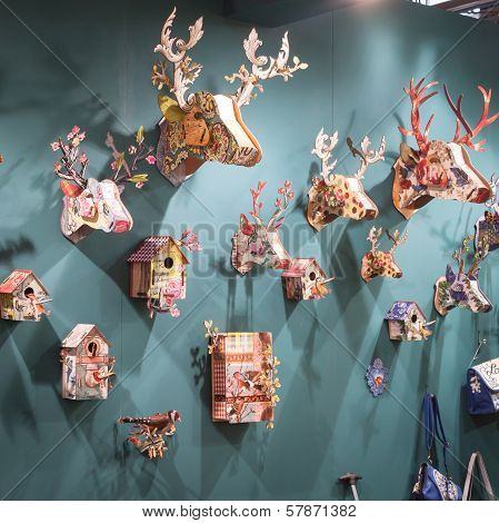 Decorative Objects On Display At Homi, Home International Show In Milan, Italy