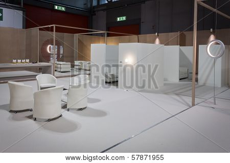 Empty Buyers Lounge At Homi, Home International Show In Milan, Italy