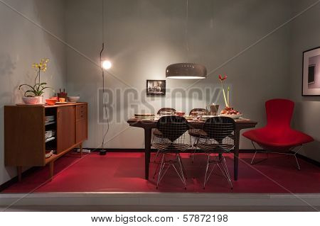 Home Furnishings On Display At Homi, Home International Show In Milan, Italy