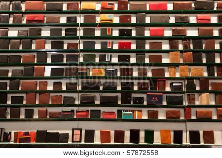 Wallets On Display At Homi, Home International Show In Milan, Italy