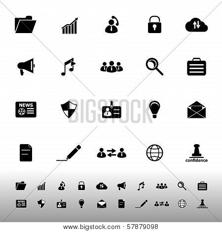 General Document Icons On White Background