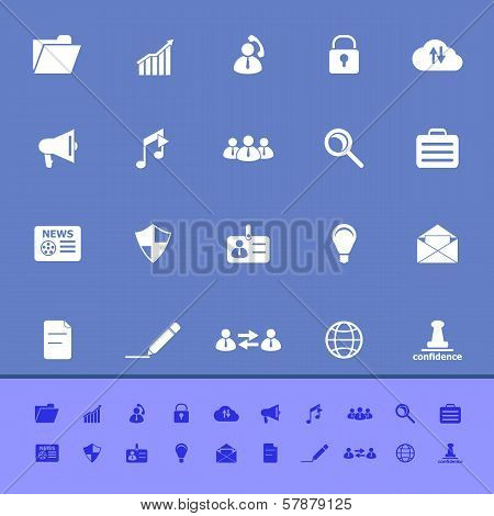 General Document Color Icons On Blue Background