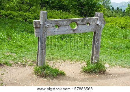 Old Wooden Stocks