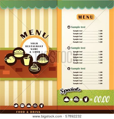 vector restaurant menu brochure and cover design template poster