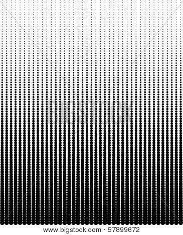 Easy vector halftone background of black dots poster