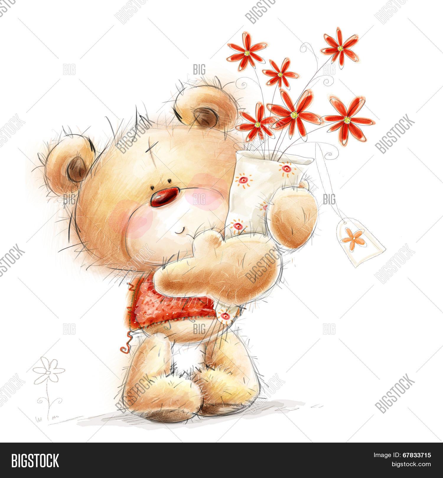 Cute Teddy Bear Red Image Photo Free Trial Bigstock