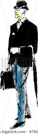 Stockbroker vector illustration