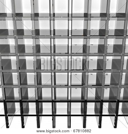 Gray Glass Rack