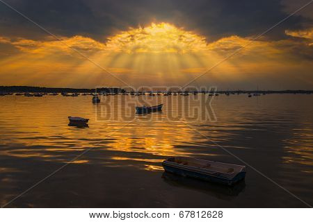 Poole Harbour sun rays