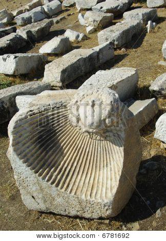 Effective Ancient Bas-relief In Hieropolis (turkey)