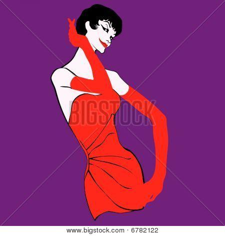 Woman pop vector illustration