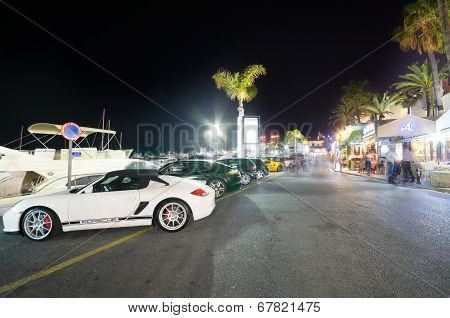 Puerto Banus on May 1 2014 in Marbella Malaga Andalusia Spain.