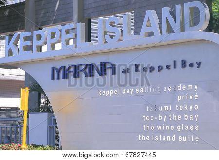 Marina at Keppel Bay entrance Singapore