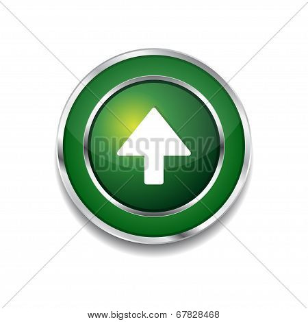 Up Key Circular Vector Green Web Icon Button