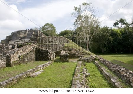 Side View Of Mayan Temple