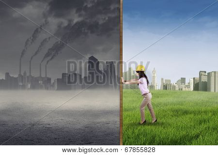 Engineer Try To Make A Green City
