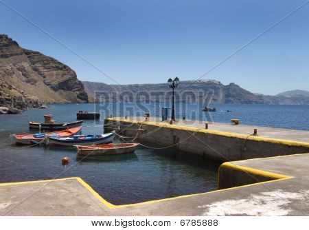 Small Greek fishing harbor