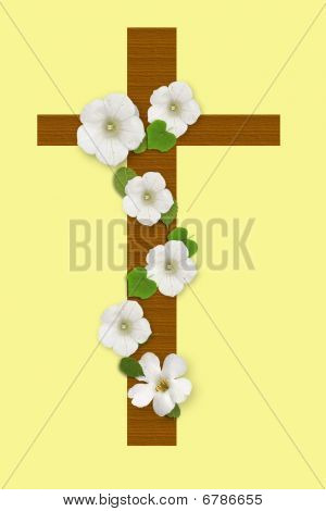 Easter Cross and flowers