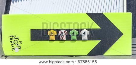 Route Indicator Of Le Tour De France