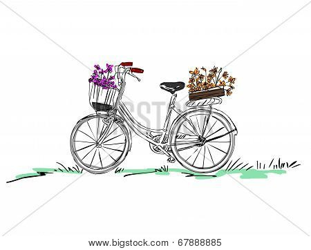 Bicycle With Flower